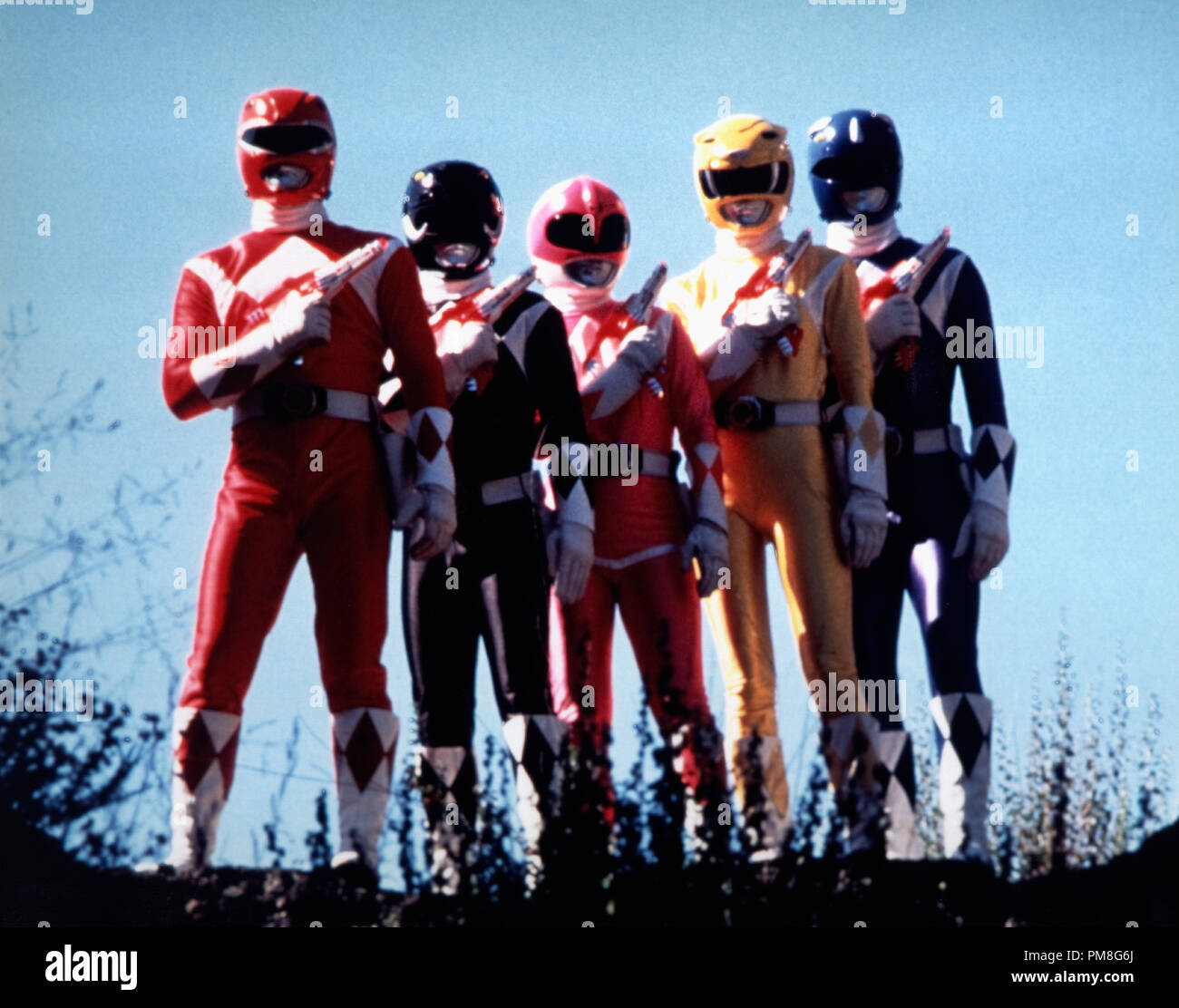 Film still / publicity still from 'Mighty Morphin' Power Rangers' circa 1993   File Reference # 31371222THA  For Editorial Use Only All Rights Reserved - Stock Image