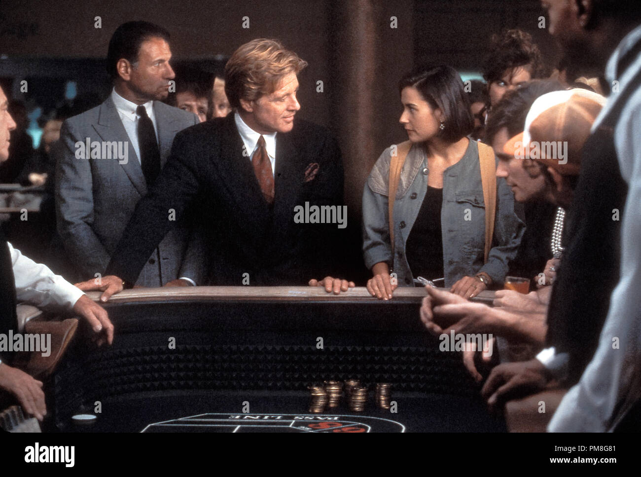 Film still / publicity still from 'Indecent Proposal' Robert Redford, Demi Moore © 1993 Paramount Photo Credit: David James   File Reference # 31371259THA  For Editorial Use Only All Rights Reserved - Stock Image