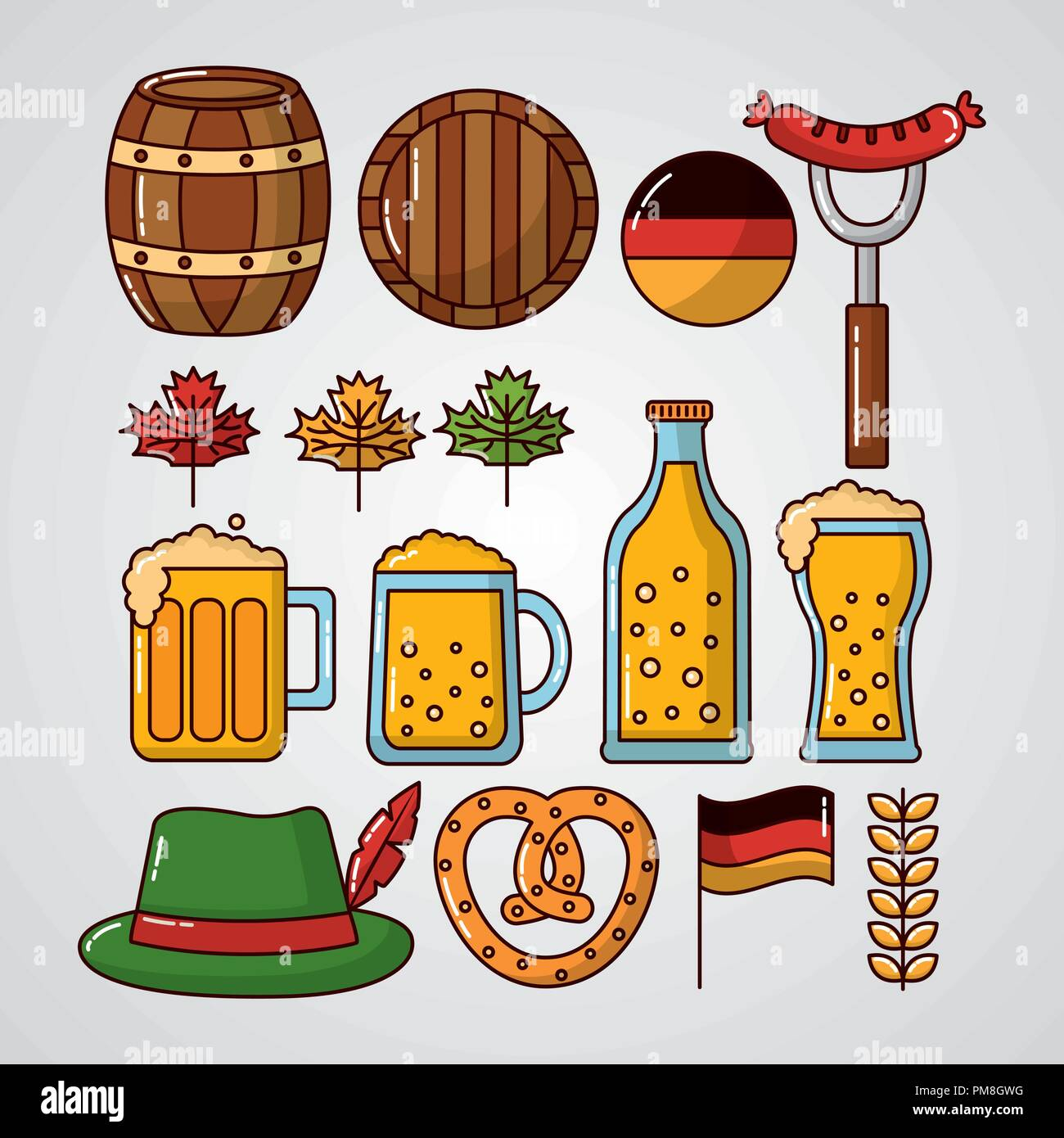oktoberfest germany celebration - Stock Image