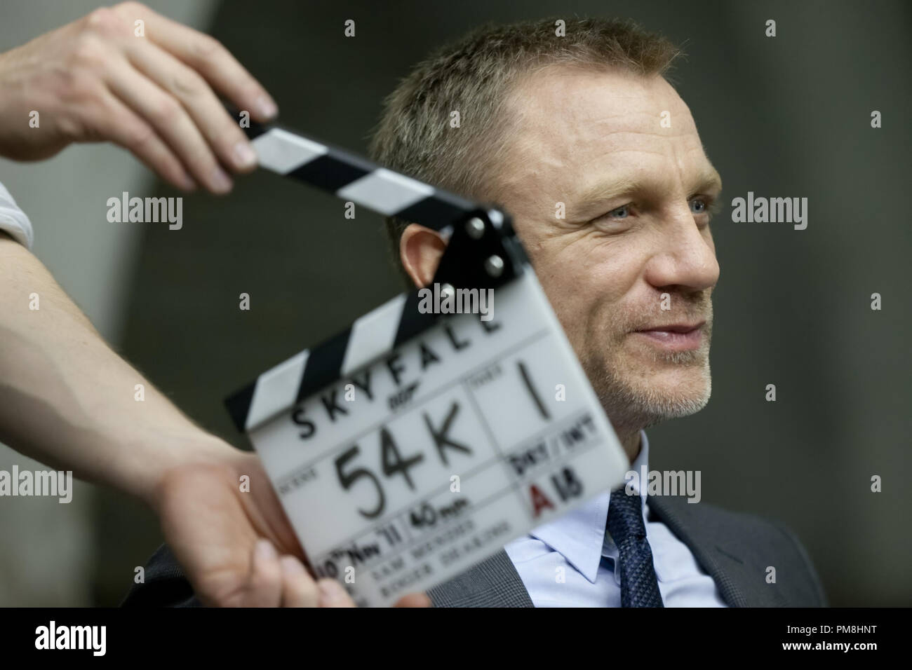 Daniel Craig stars as James Bond on the set of Metro-Goldwyn-Mayer Pictures/Columbia Pictures/EON Productions action adventure SKYFALL. - Stock Image