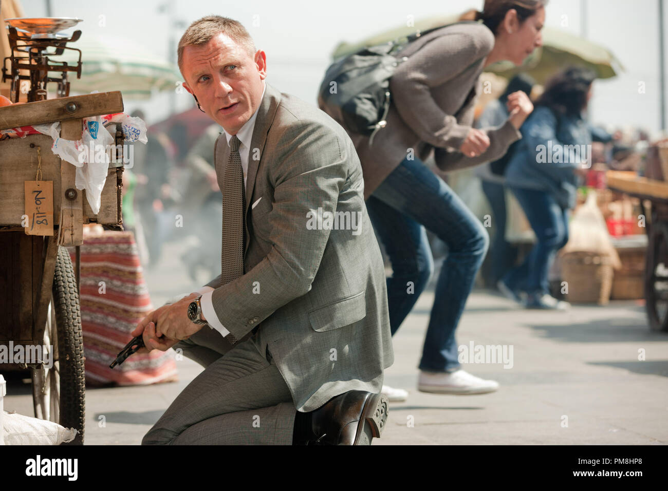 Daniel Craig stars as James Bond in Metro-Goldwyn-Mayer Pictures/Columbia Pictures/EON ProductionsÕ action adventure SKYFALL. - Stock Image
