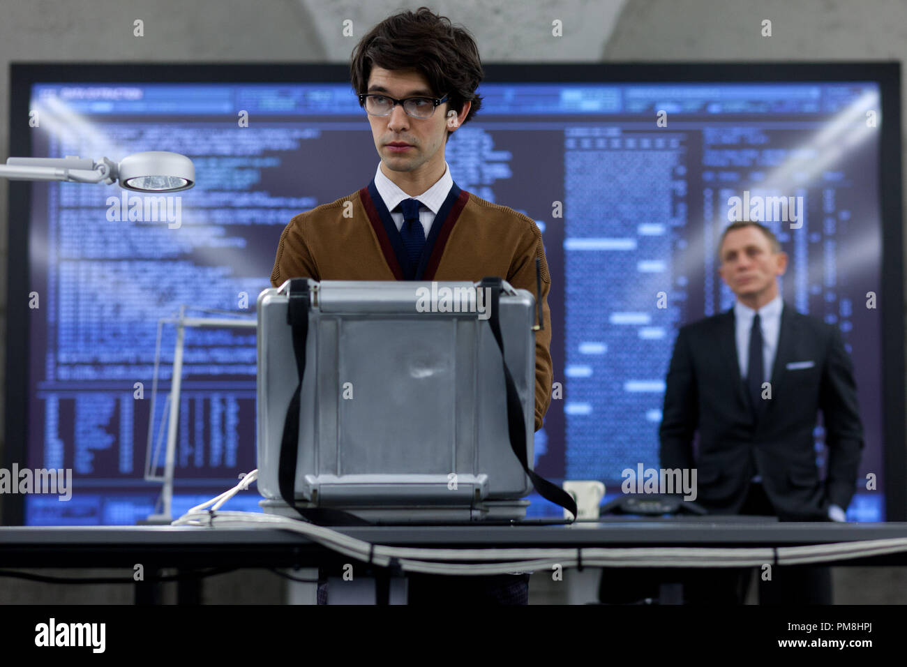 Ben Whishaw stars as Q and Daniel Craig stars as James Bond in Metro-Goldwyn-Mayer Pictures/Columbia Pictures/EON ProductionsÕ action adventure SKYFALL. - Stock Image