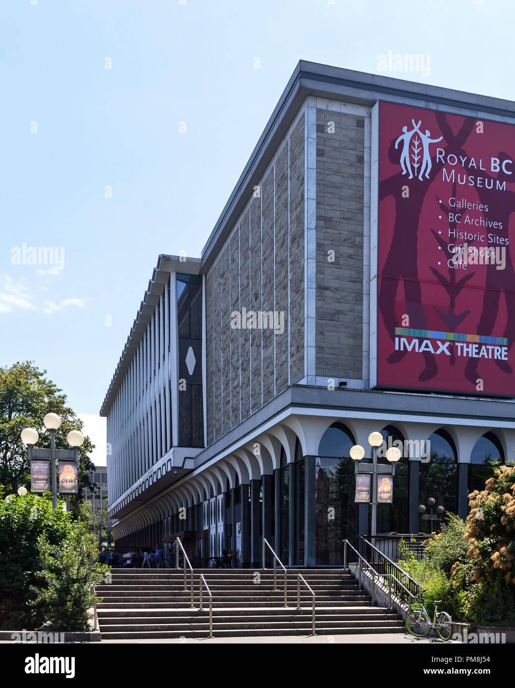 Imax theater, Royal British Columbia Museum, Victoria, capital of British Columbia, Canada - Stock Image