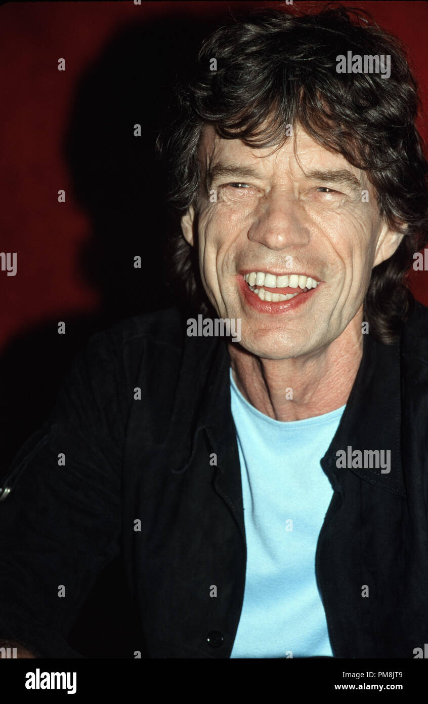 Mick Jagger, 2002. © JRC /The Hollywood Archive  -  All Rights Reserved  File Reference # 31515_544 - Stock Image
