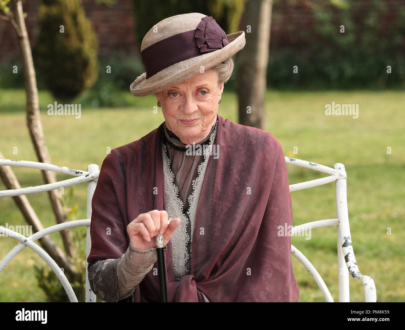 Downton Abbey Season 2 - Episode 3 Shown: Dame Maggie Smith as the Dowager Countess - Stock Image