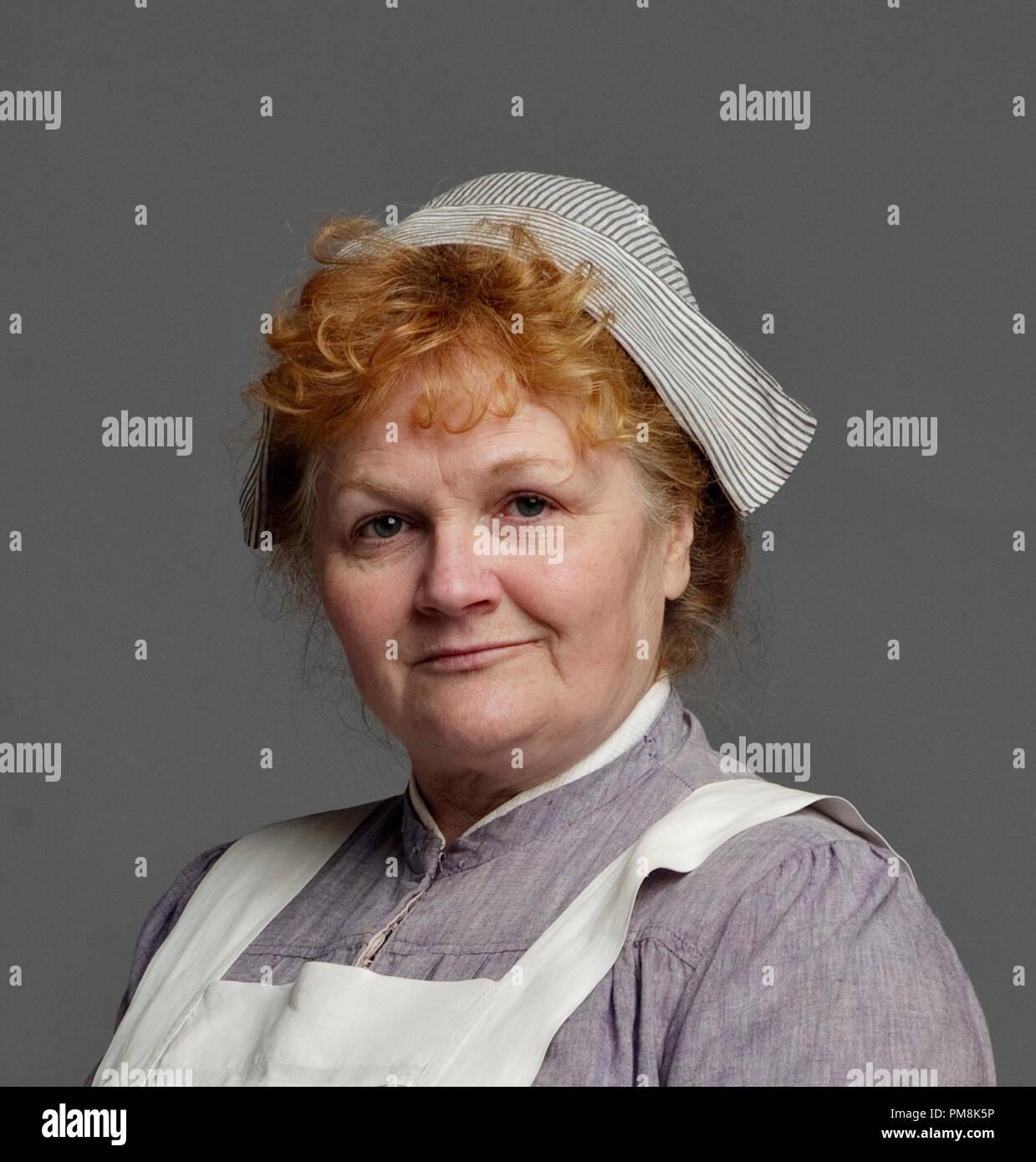 Lesley Nicol as Mrs. Patmore 'Downton Abbey' Season 2, 2012 - Stock Image