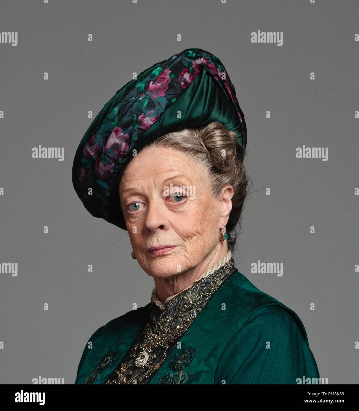 Maggie Smith as The Dowager Countess of Grantham 'Downton Abbey' Season 2, 2012 - Stock Image