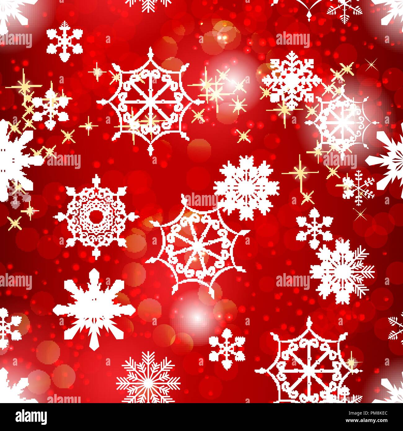 abstract beauty christmas and new year background with snow and snowflakes vector illustration