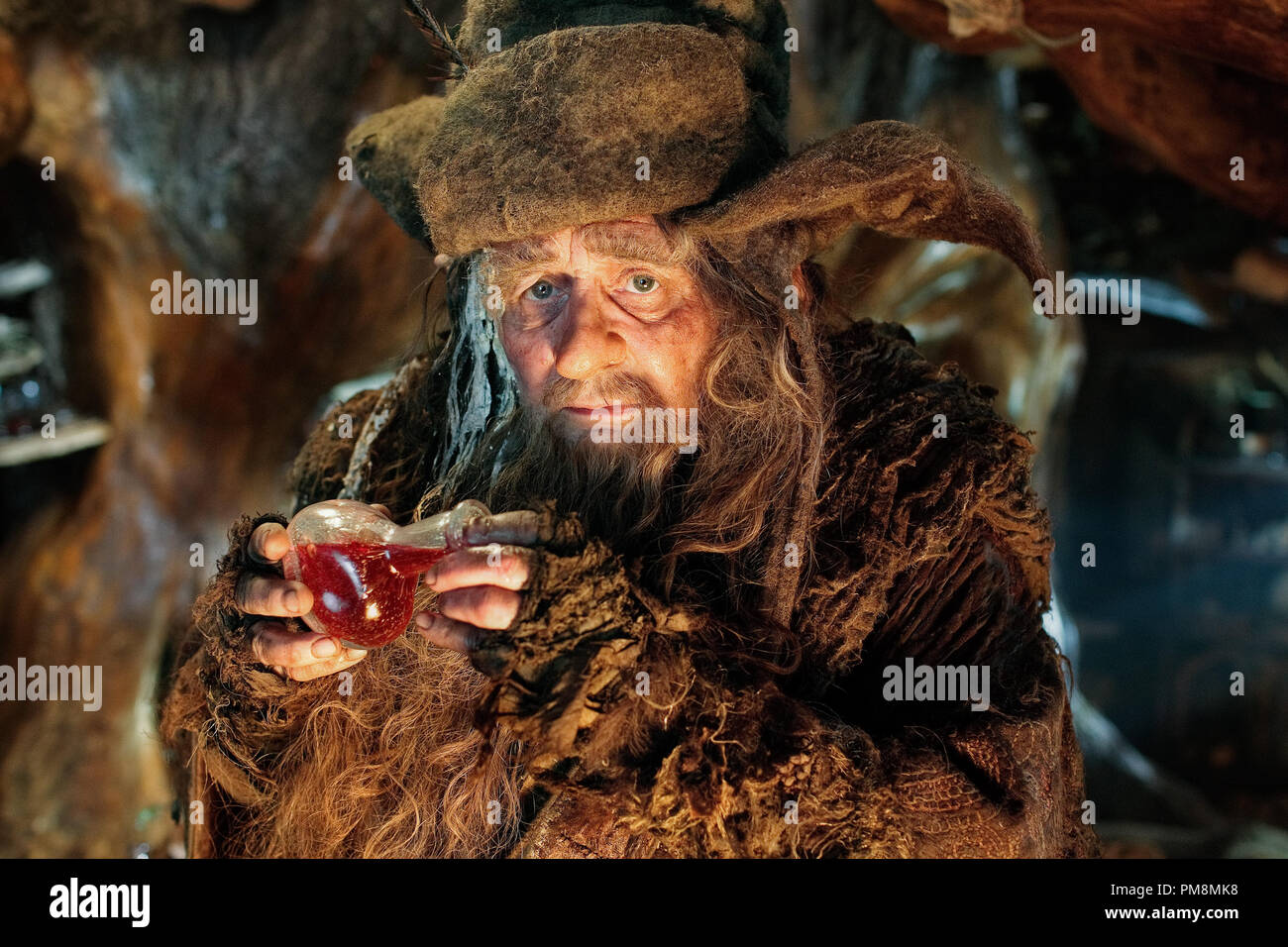 "SYLVESTER MCCOY as Radagast in New Line Cinema's and MGM's fantasy adventure ""THE HOBBIT: AN UNEXPECTED JOURNEY,"" a Warner Bros. Pictures release. - Stock Image"