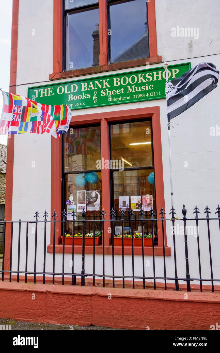 The Old Bank Bookshop in Wigtown, Scotland's national book town, Dumfries and Galloway. - Stock Image