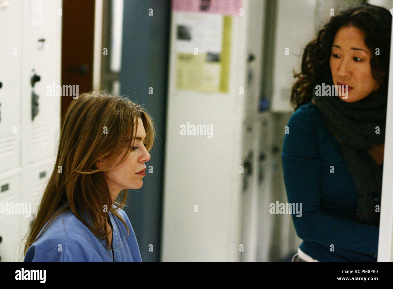 Greys Anatomy Ellen Pompeo Sandra Oh Stock Photos & Greys Anatomy ...