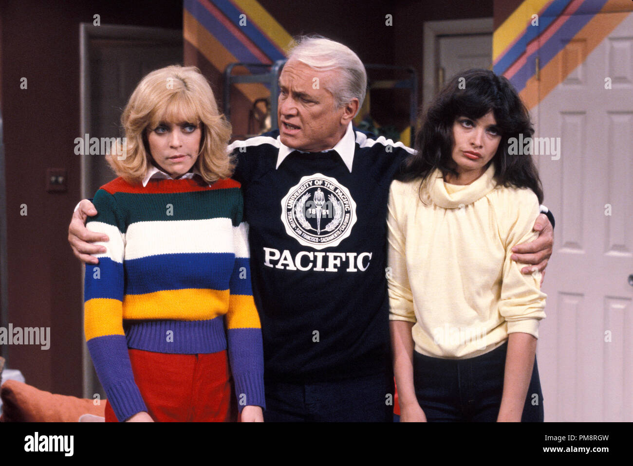 Studio Publicity Still from 'Too Close for Comfort' Lydia Cornell, Ted Knight, Deborah Van Valkenburgh 1980   All Rights Reserved   File Reference # 31715025THA  For Editorial Use Only - Stock Image