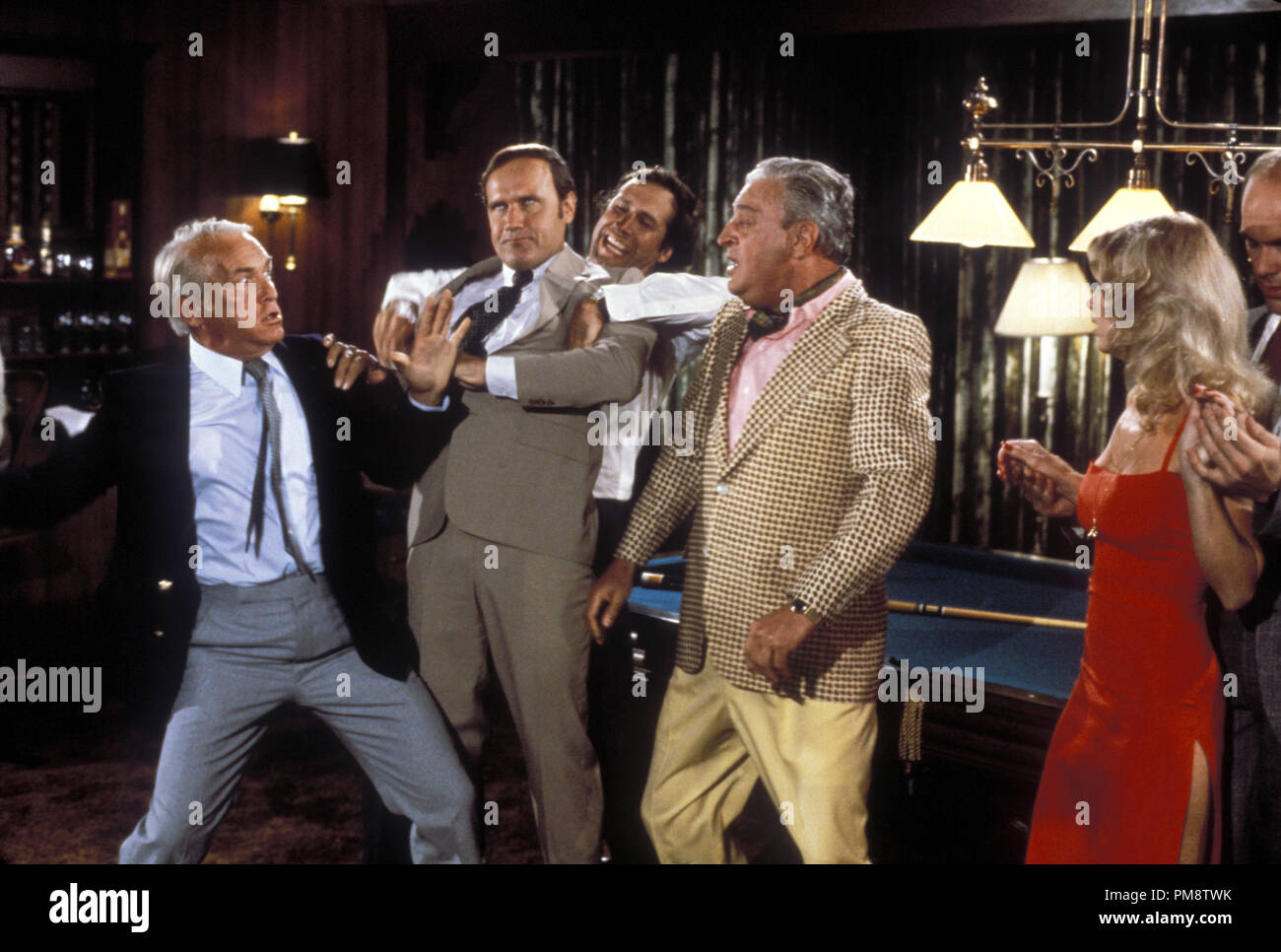 Studio Publicity Still from 'Caddyshack' Ted Knight, Chevy Chase, Rodney Dangerfield © 1980 Orion  All Rights Reserved   File Reference # 31715287THA  For Editorial Use Only - Stock Image