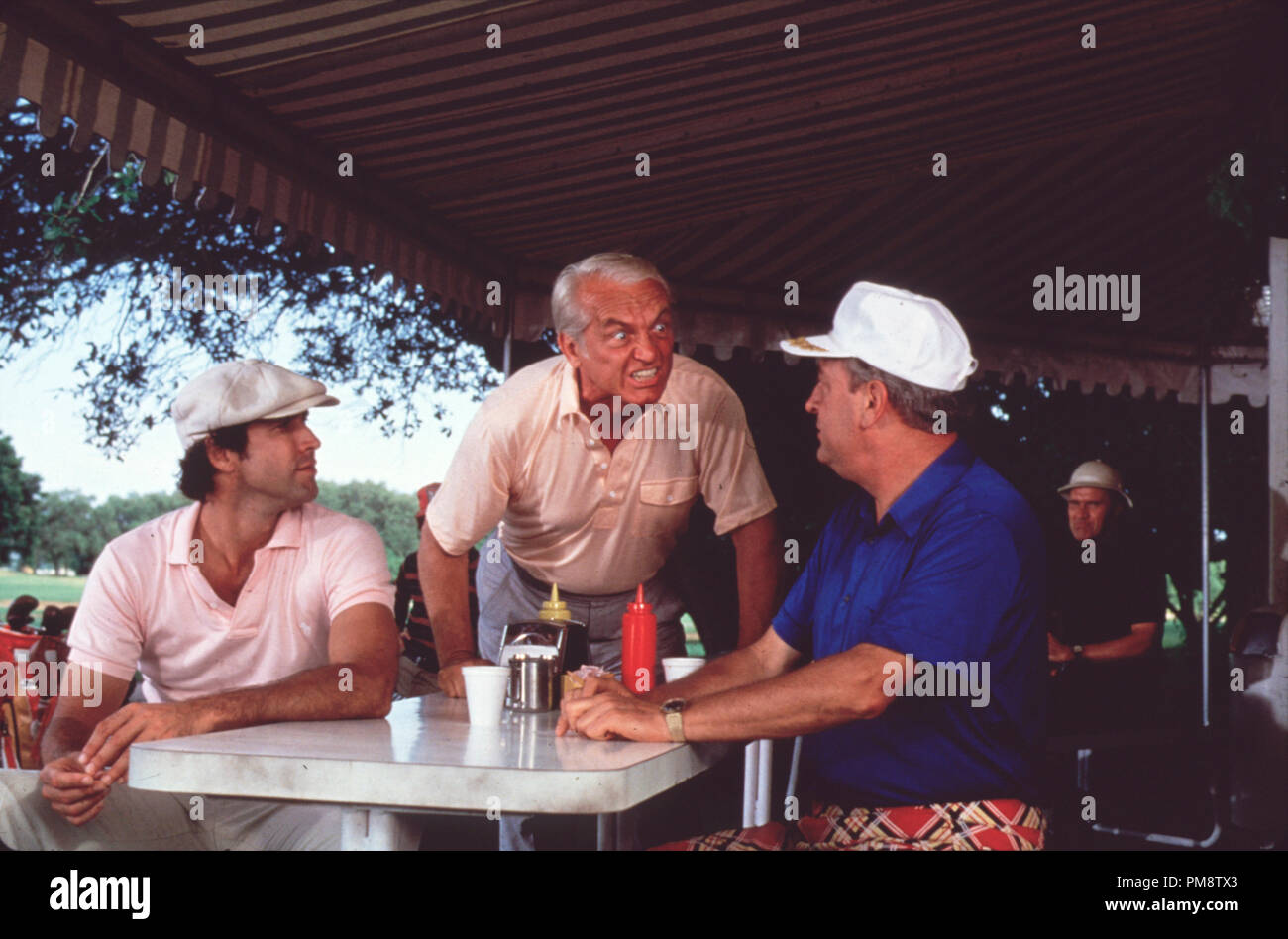 Studio Publicity Still from 'CaddyShack' Chevy Chase, Ted Knight, Rodney Dangerfield © 1980 Orion  All Rights Reserved   File Reference # 31715290THA  For Editorial Use Only - Stock Image