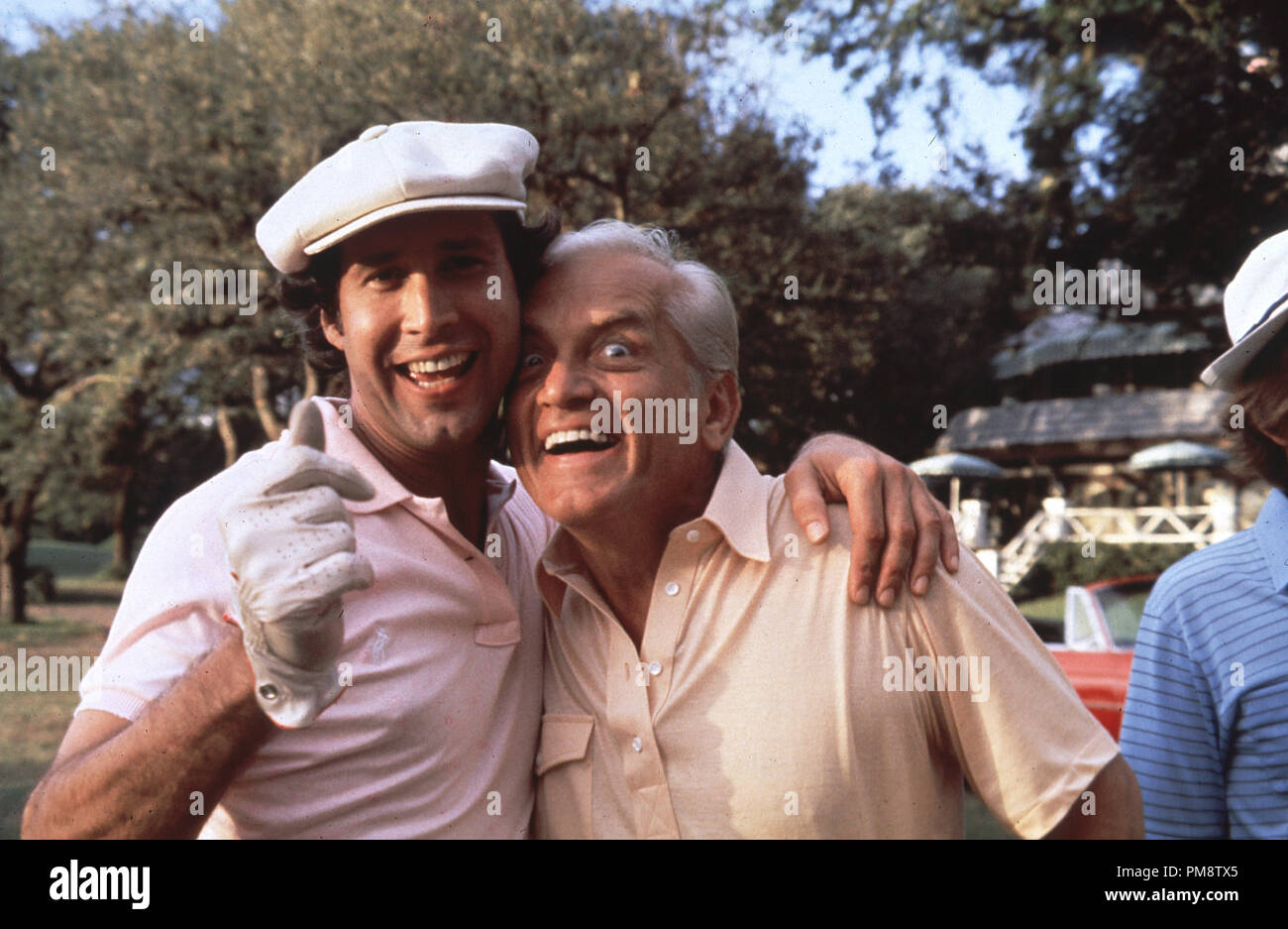 Studio Publicity Still from 'Caddyshack' Chevy Chase, Ted Knight © 1980 Orion  All Rights Reserved   File Reference # 31715291THA  For Editorial Use Only - Stock Image