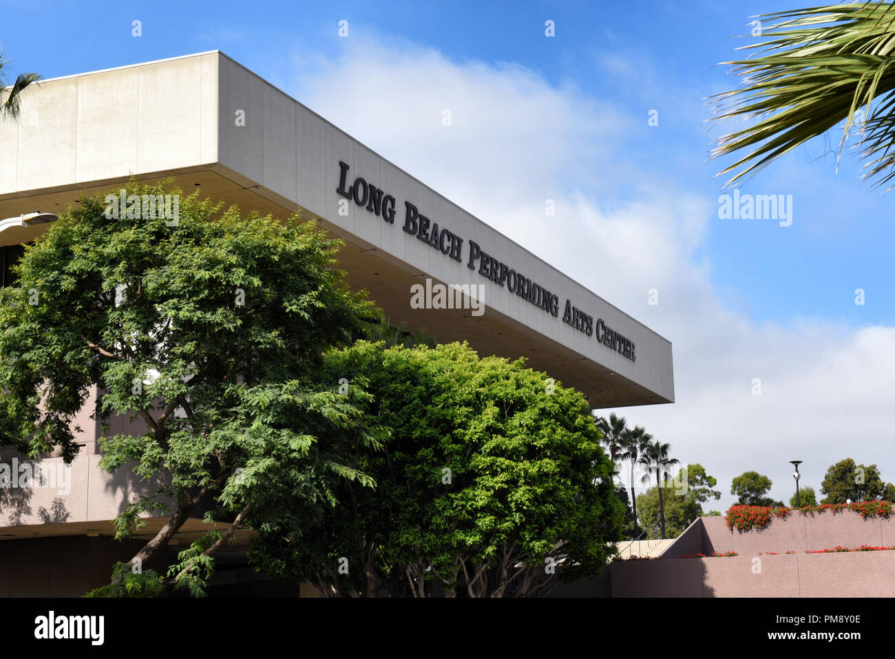LONG BEACH, CALIF - SEPT 10, 2018: Long Beach Performing Arts Center is home to the Terrace Theater, Center Theater, and Seaside Ballroom. - Stock Image