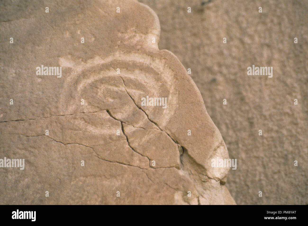 Petroglyph at Chaco Canyon, Anasazi site in New Mexico. Photograph Stock Photo