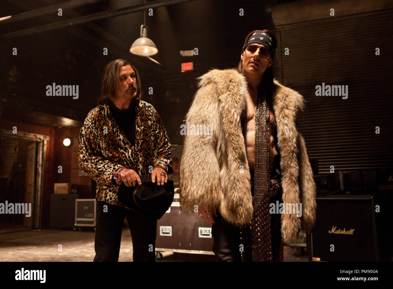 """(L-r) ALEC BALDWIN as Dennis Dupree and TOM CRUISE as Stacee Jaxx in New Line Cinema's rock musical """"ROCK OF AGES,"""" a Warner Bros. Pictures release. Stock Photo"""
