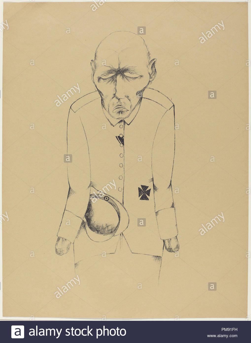 Der Erwerbslose The Unemployed Man Dated 1920 Dimensions