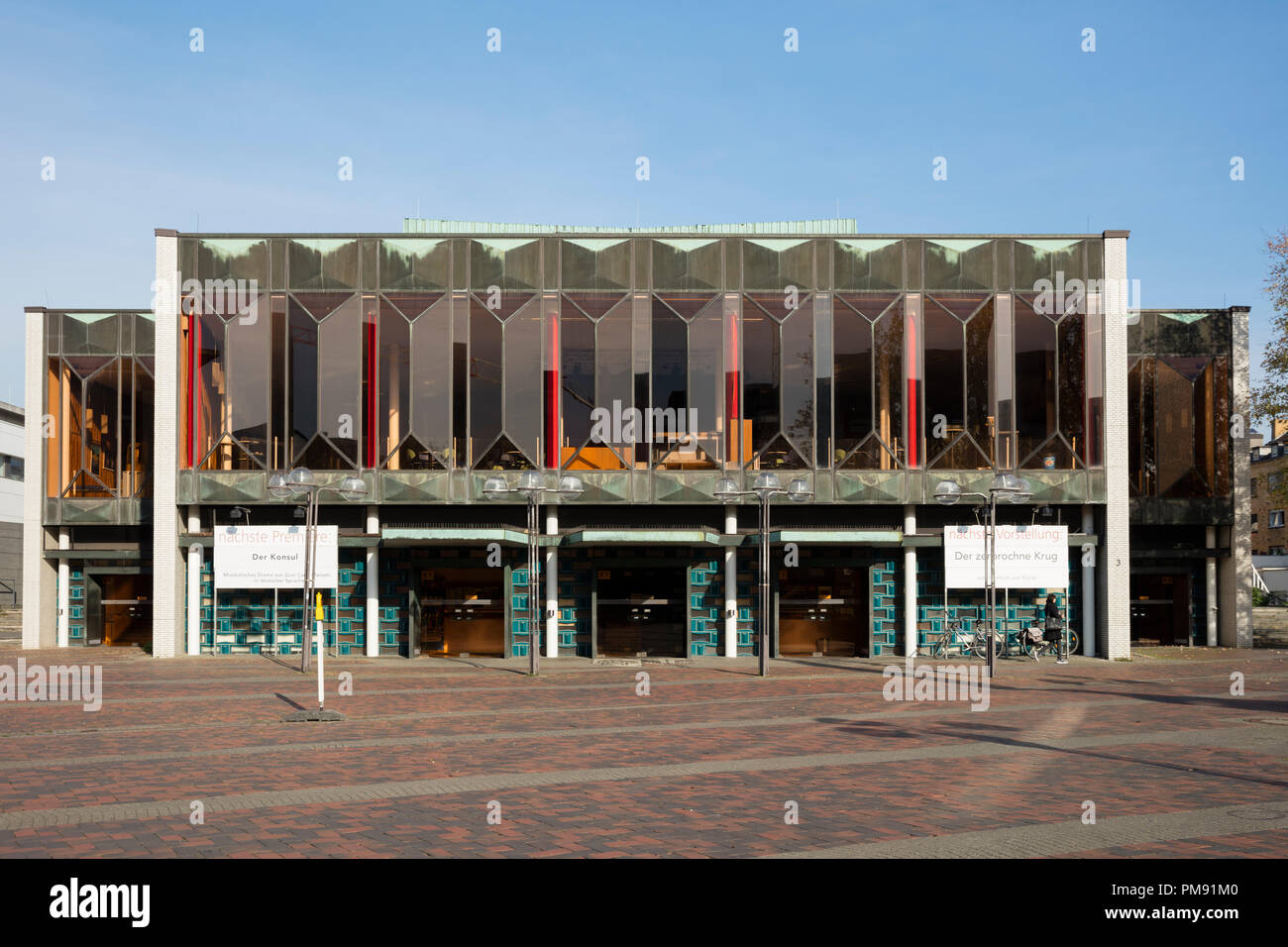 Theatre, Krefeld, Niederrhein, North Rhine-Westphalia, Germany, Europe - Stock Image