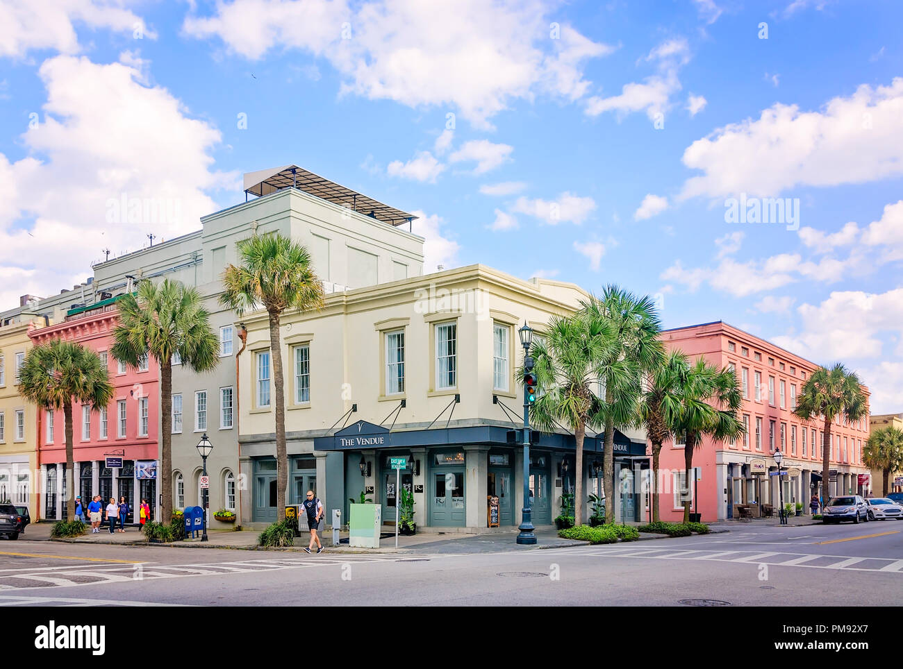 The Vendue, a boutique hotel, is pictured, April 5, 2015, in Charleston, South Carolina. - Stock Image