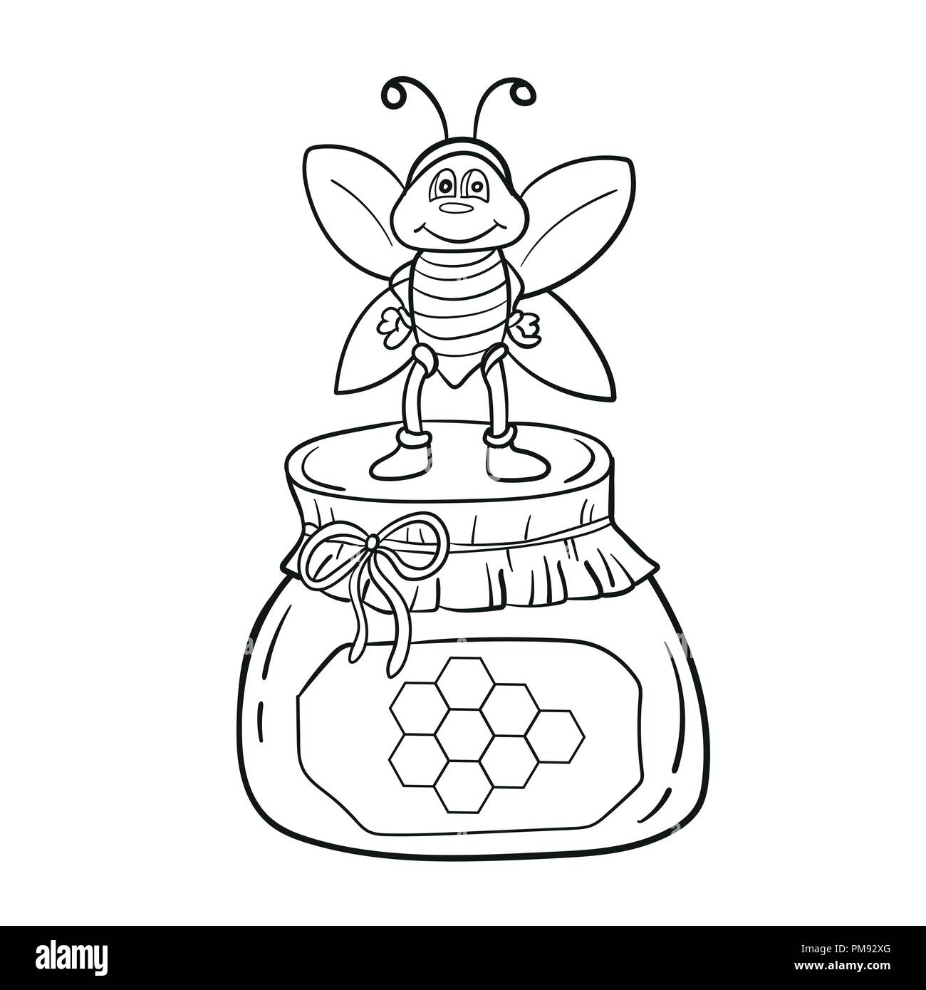 - Honey Bee Cartoon Coloring Book High Resolution Stock Photography