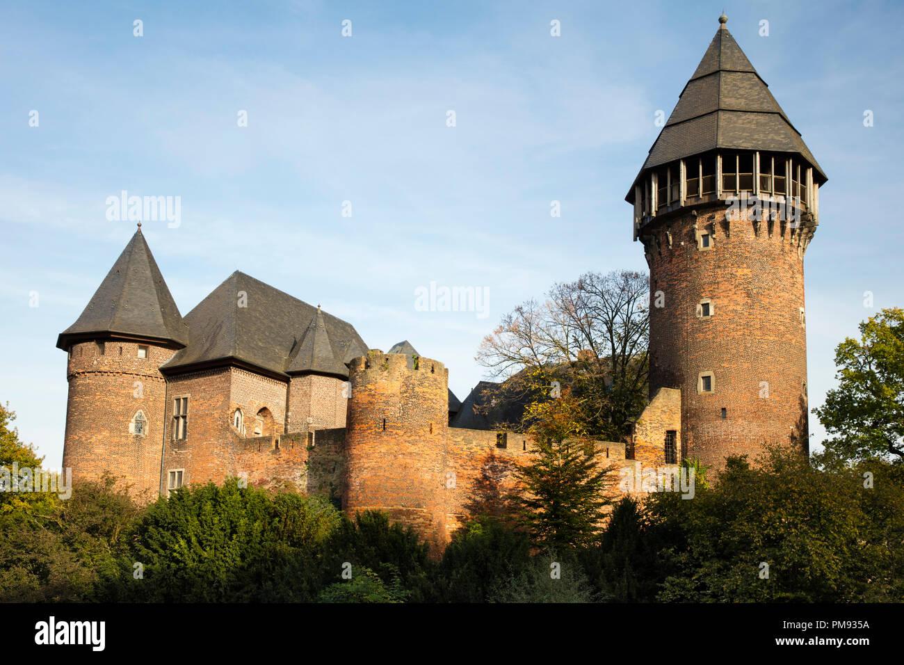 Linn Castle, Krefeld, Niederrhein, North Rhine-Westphalia, Germany, Europe - Stock Image