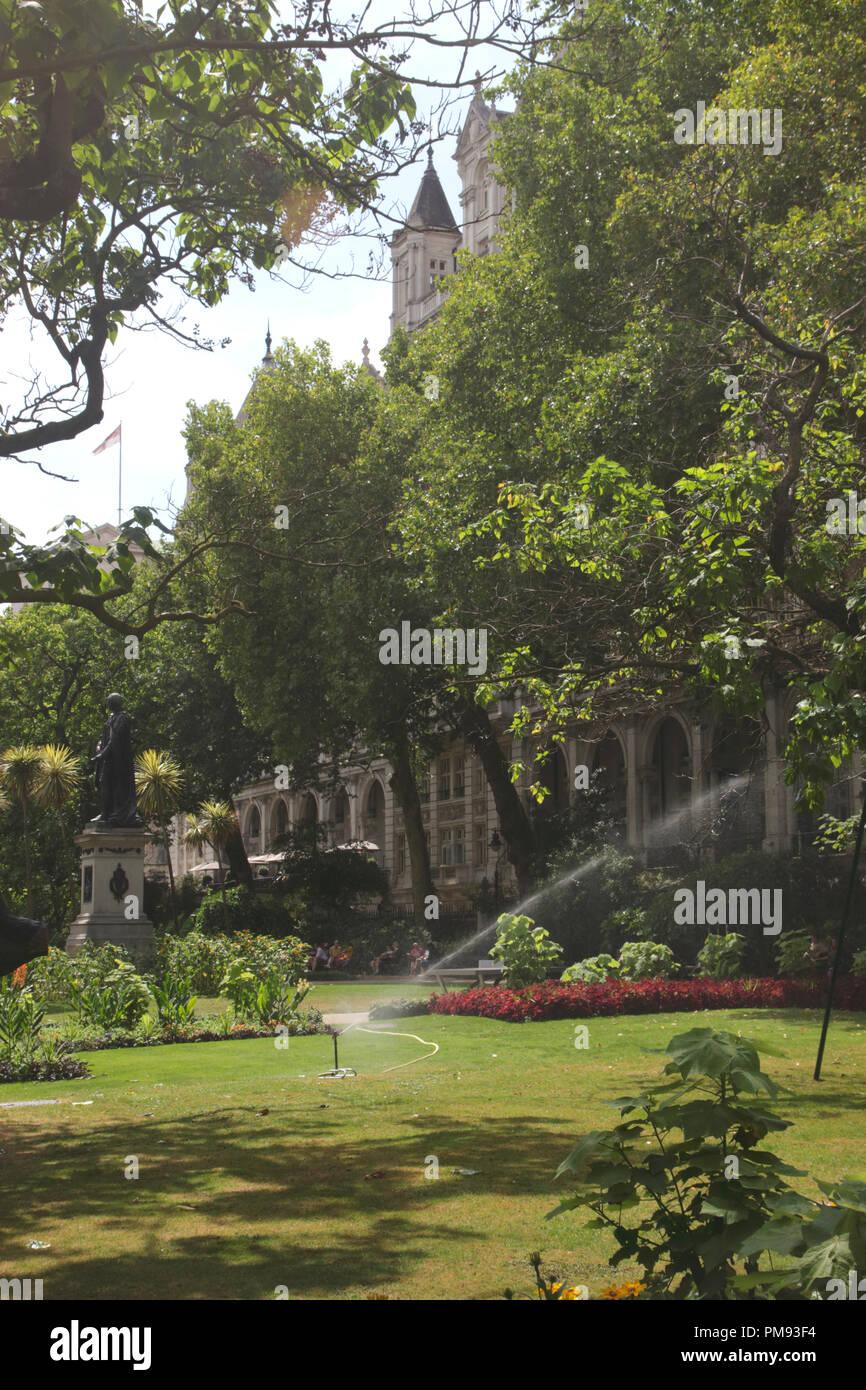 Whitehall Gardens London Stock Photo