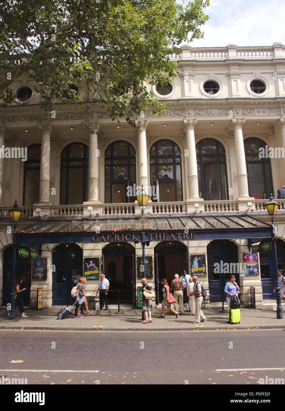 Garrick Theatre Charing Cross Road London Stock Photo