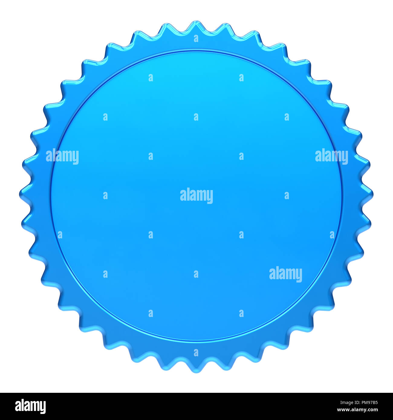 award medal blue winner badge blank template. champion success icon ...