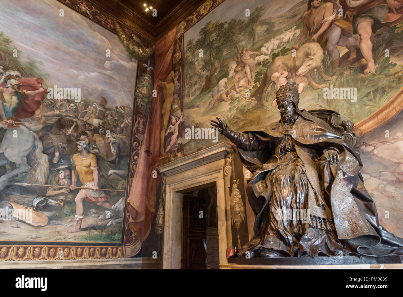 Statue of Pope Innocent X, Capitoline Museums, Rome, Italy - Stock Image