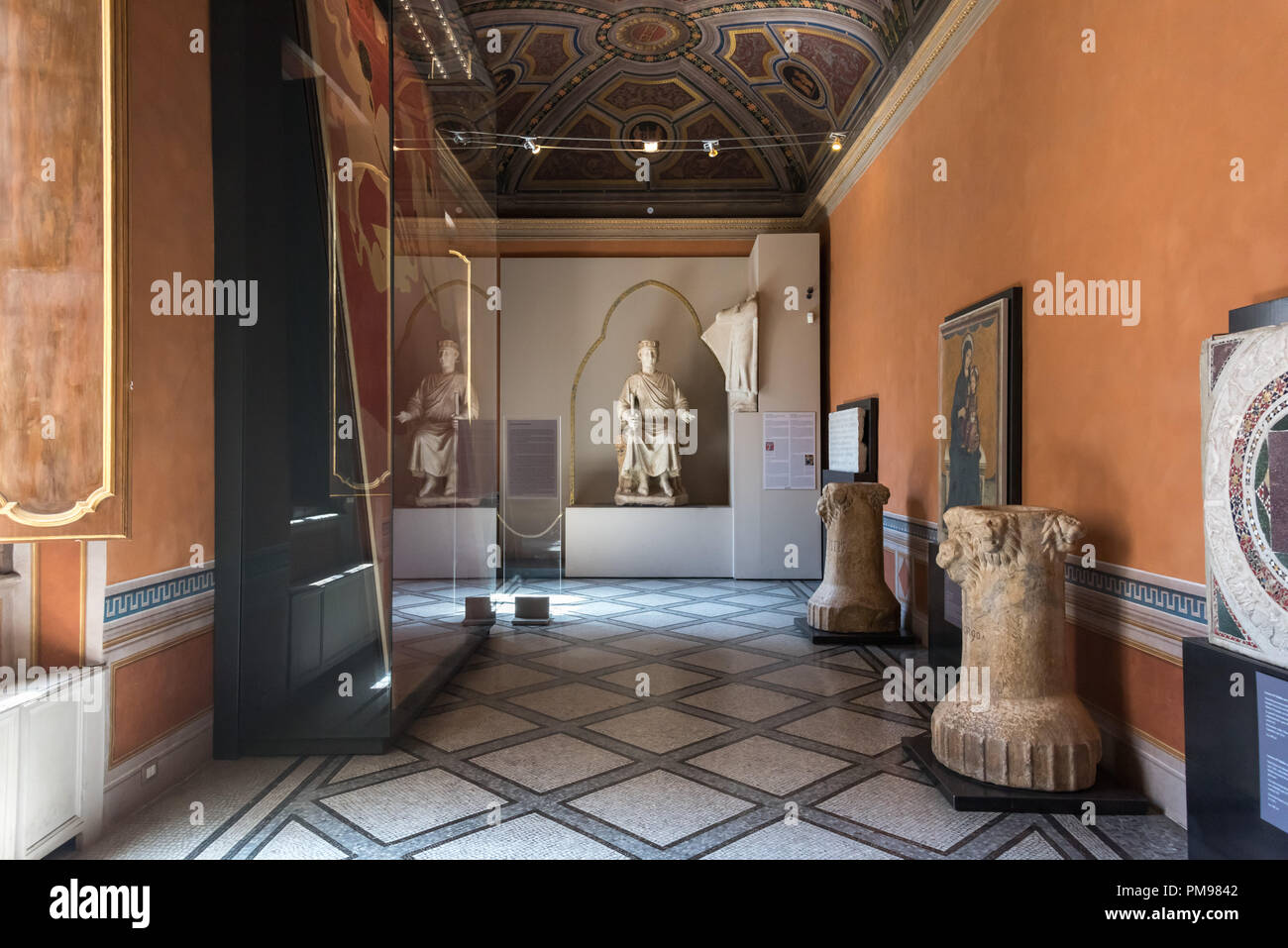 Hall of Middle Ages, Capitoline Museums, Rome, Italy - Stock Image
