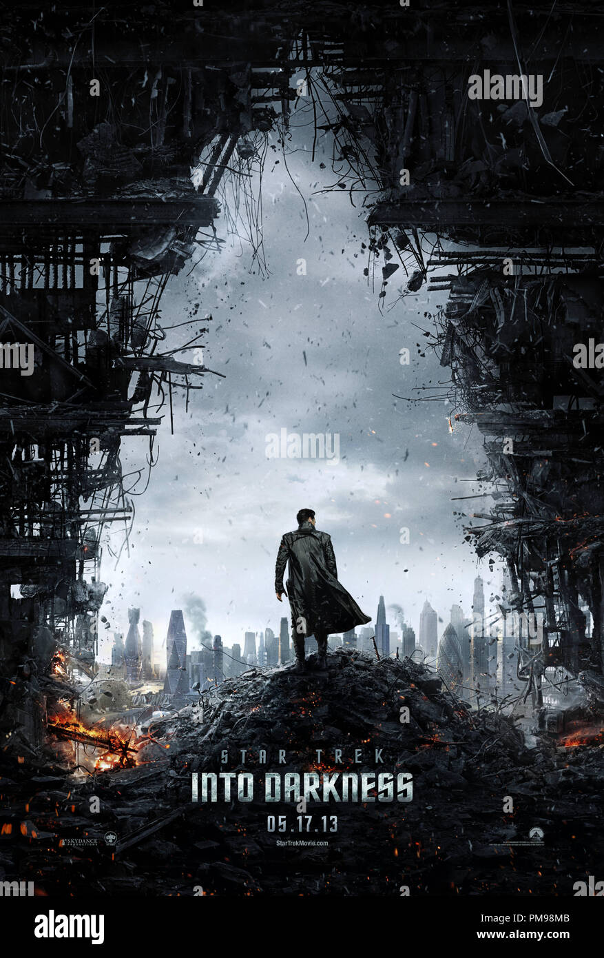 STAR TREK INTO DARKNESS, from Paramount Pictures and Skydance Productions. Poster - Stock Image