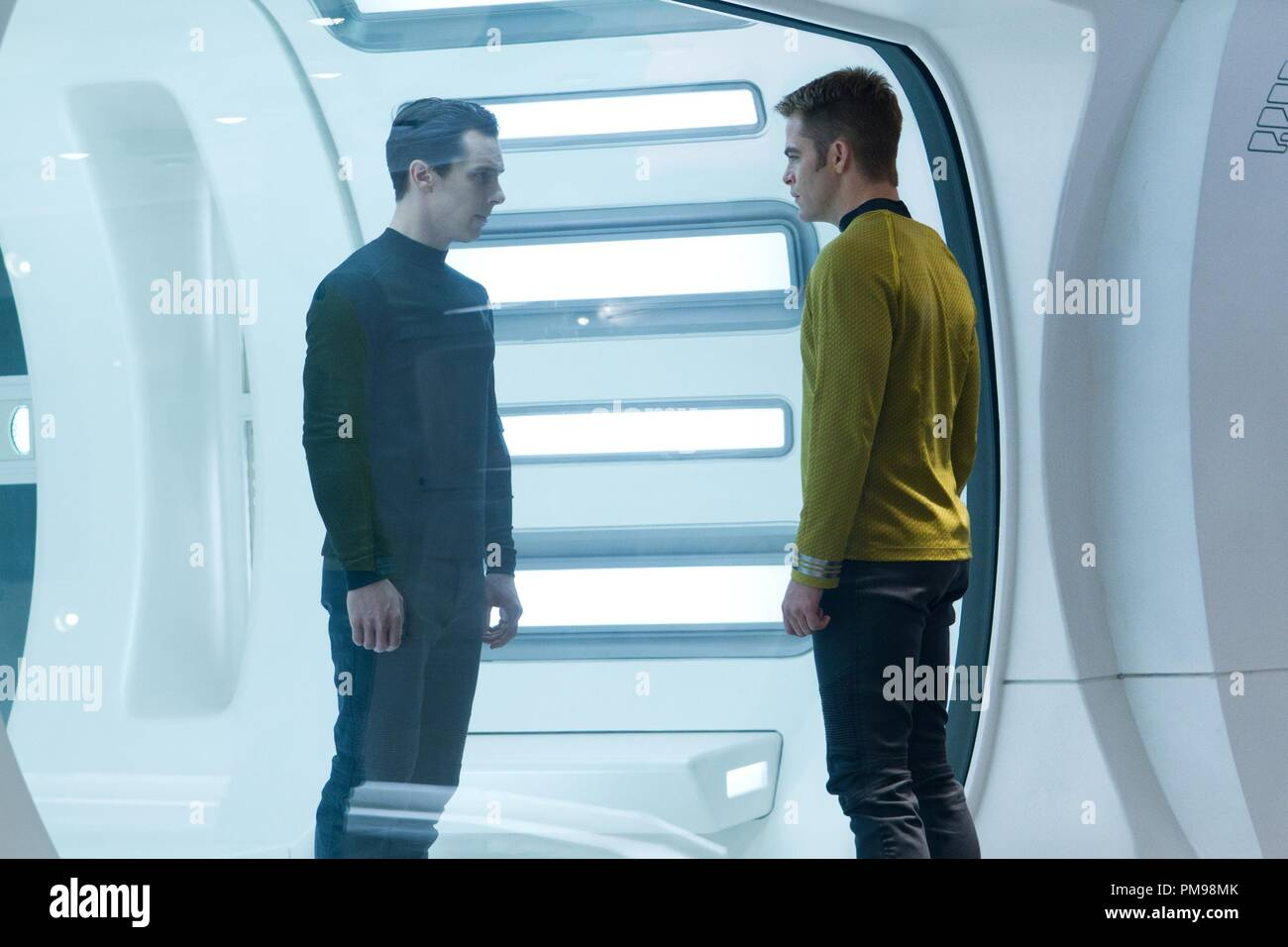 Chris Pine is Kirk in STAR TREK INTO DARKNESS from Paramount Pictures and Skydance Productions. - Stock Image
