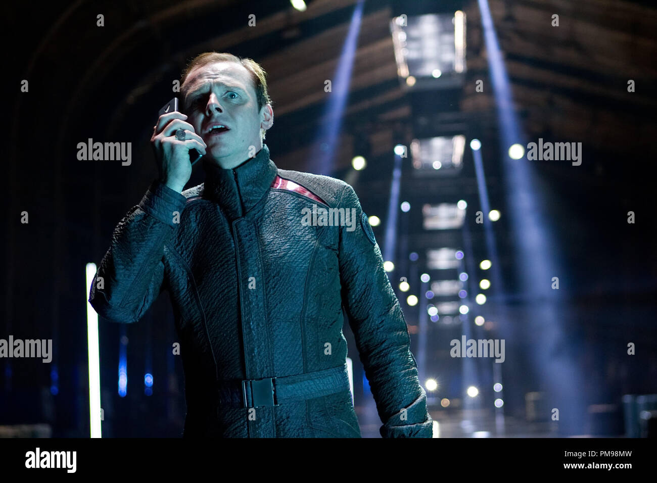 Simon Pegg in STAR TREK INTO DARKNESS, from Paramount Pictures and Skydance Productions. - Stock Image