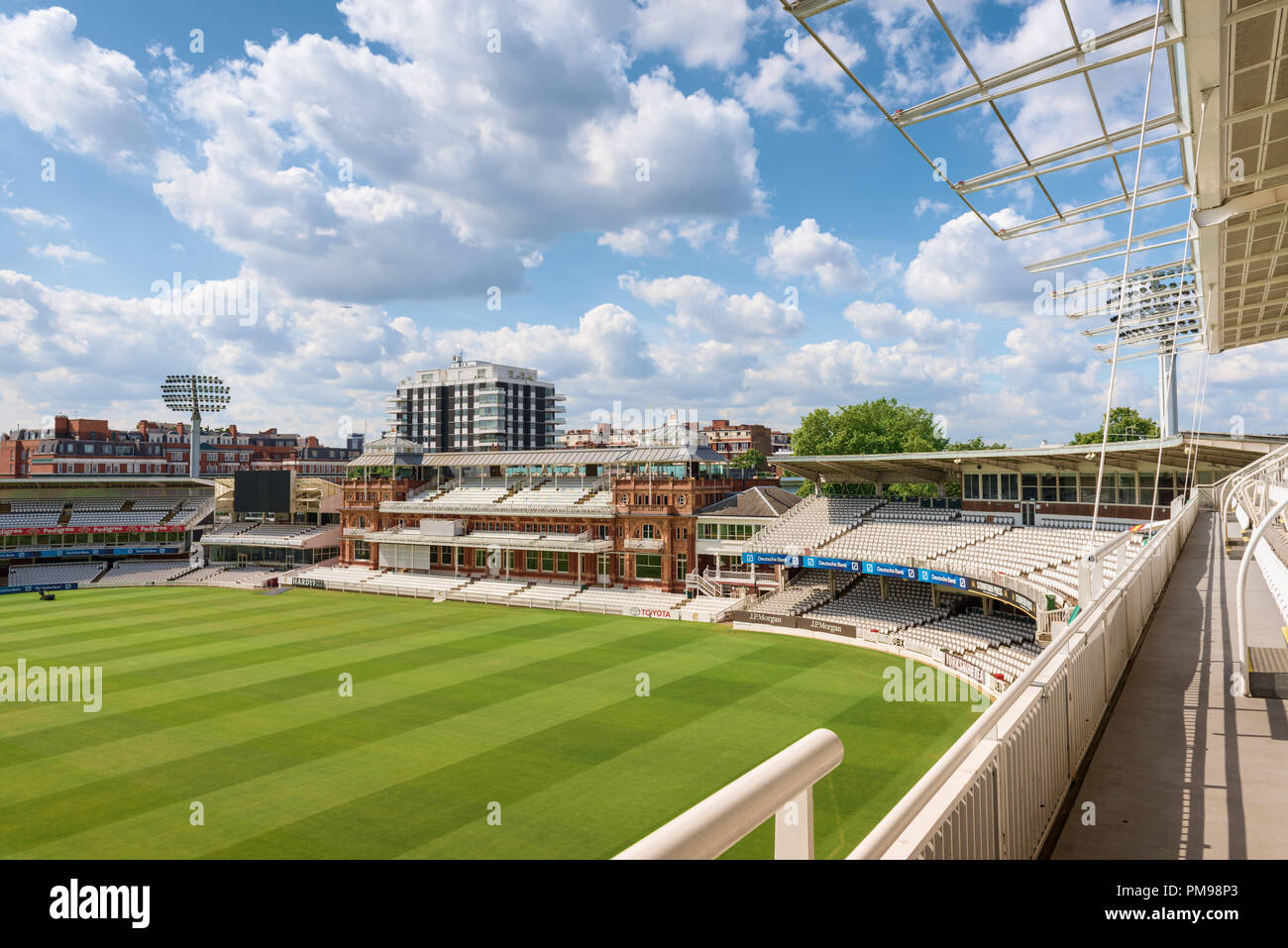 Victorian Pavillion, Lords Cricket Ground, London, UK - Stock Image
