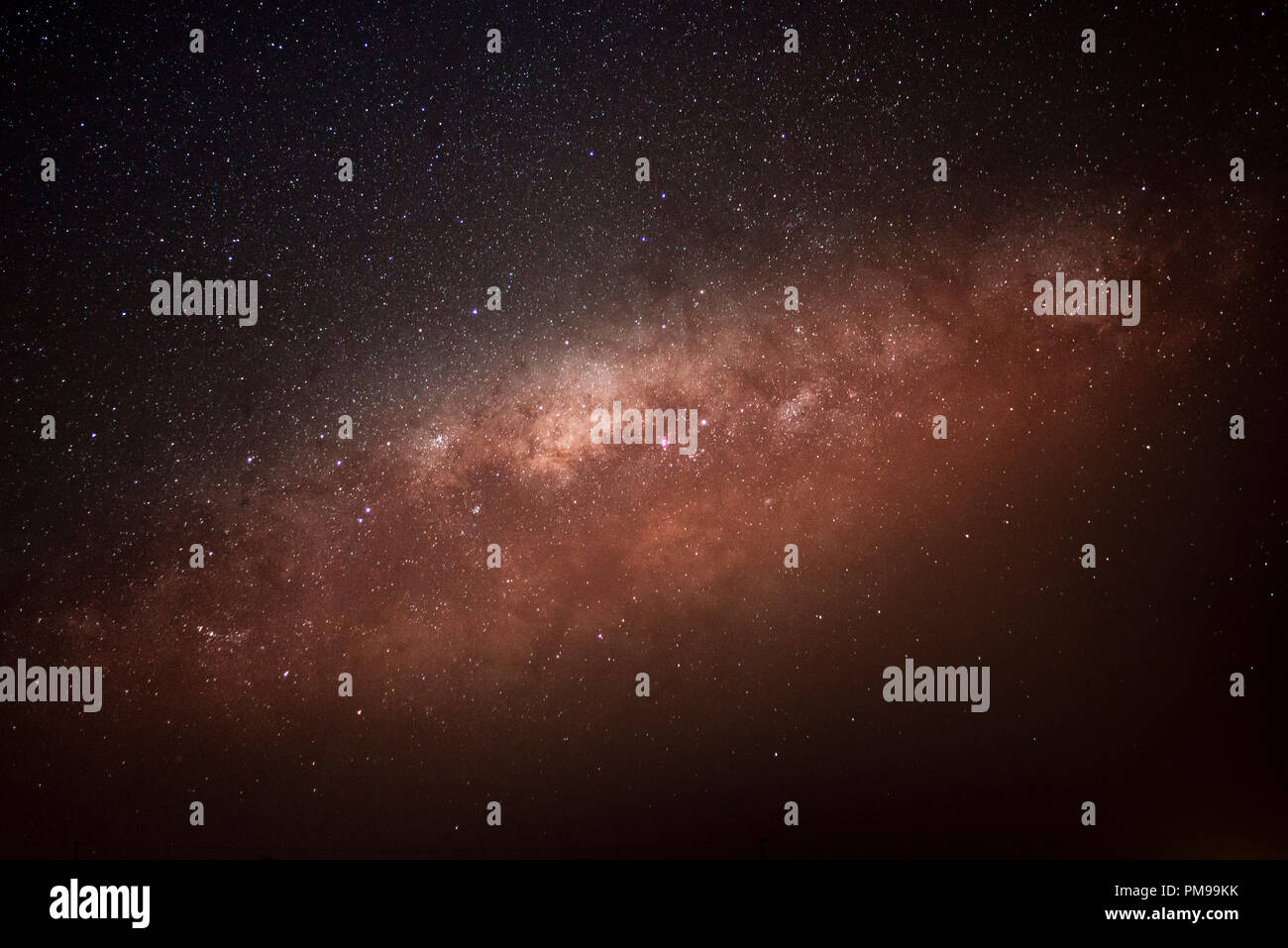 Galactic Center of the Milky Way. - Stock Image