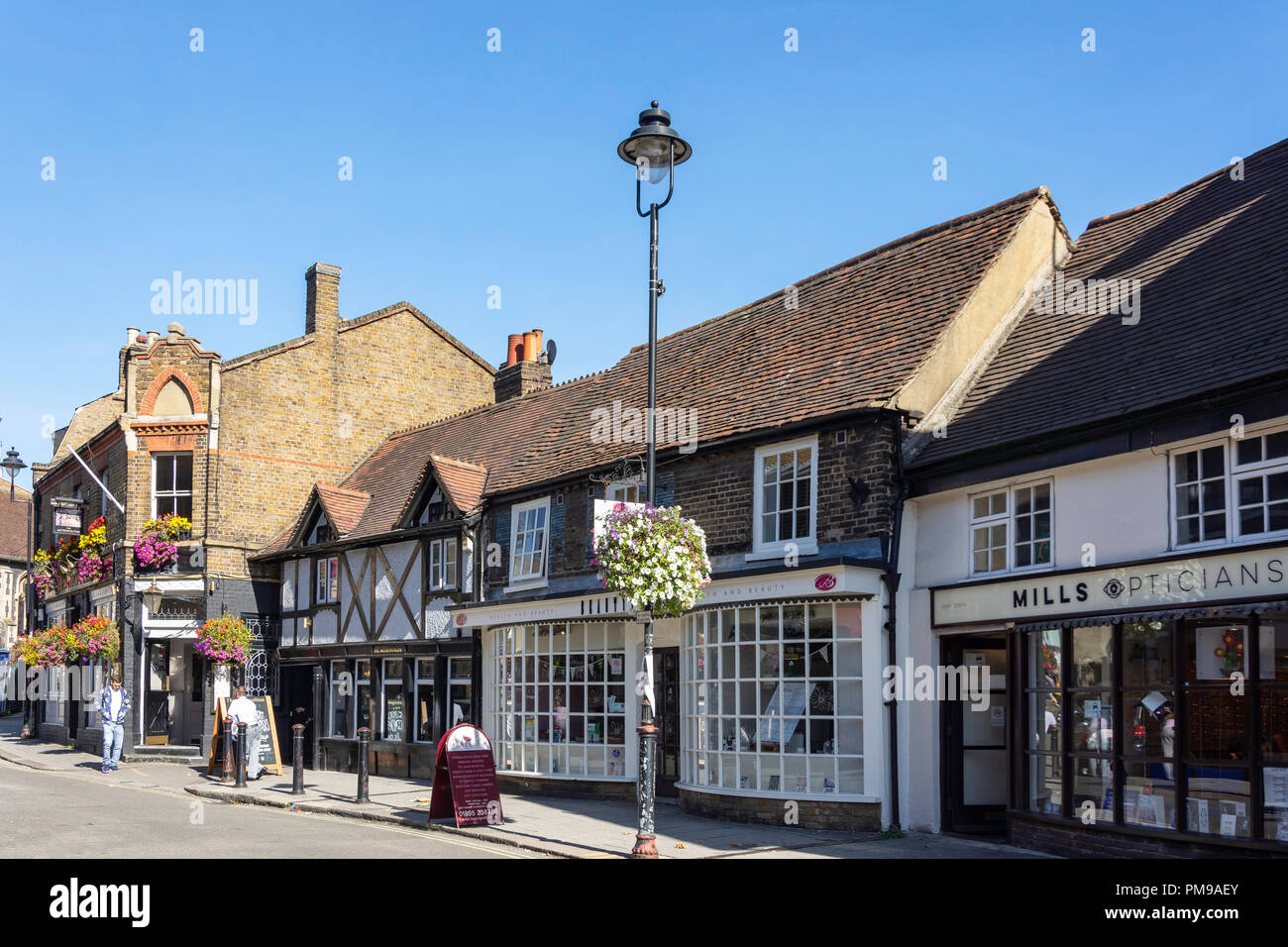 Period buildings, Windsor Street, Uxbridge, London Borough of Hillington, Greater London, England, United Kingdom - Stock Image
