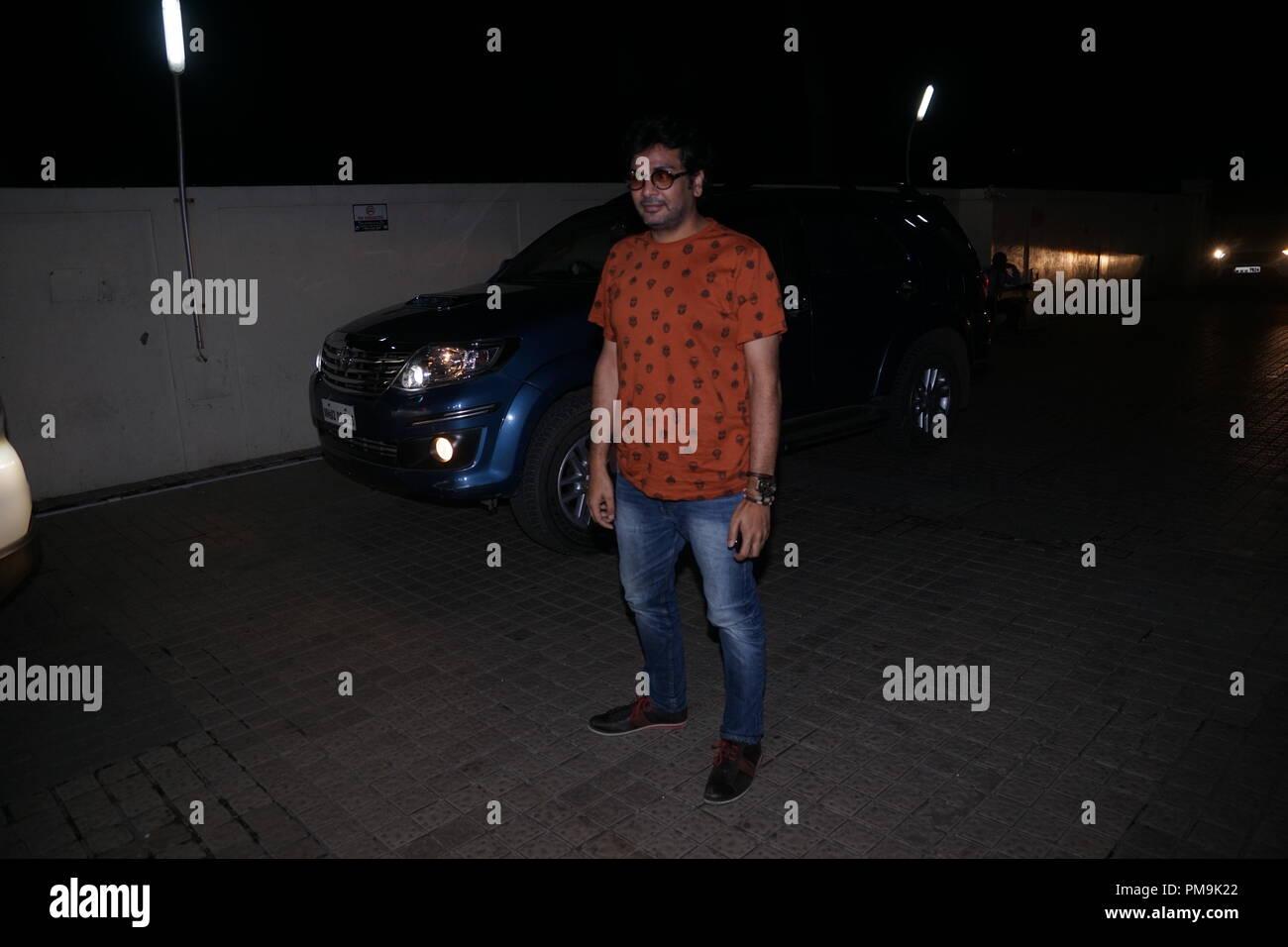 Mumbai, India. 17th Sep 2018. casting director Mukesh Chhabra during Special  screening of movie 'Manto' at PVR juhu in Mumbai on 17th sep 2018. Photo by Prordip Guha Credit: Prodip Guha/Alamy Live News - Stock Image