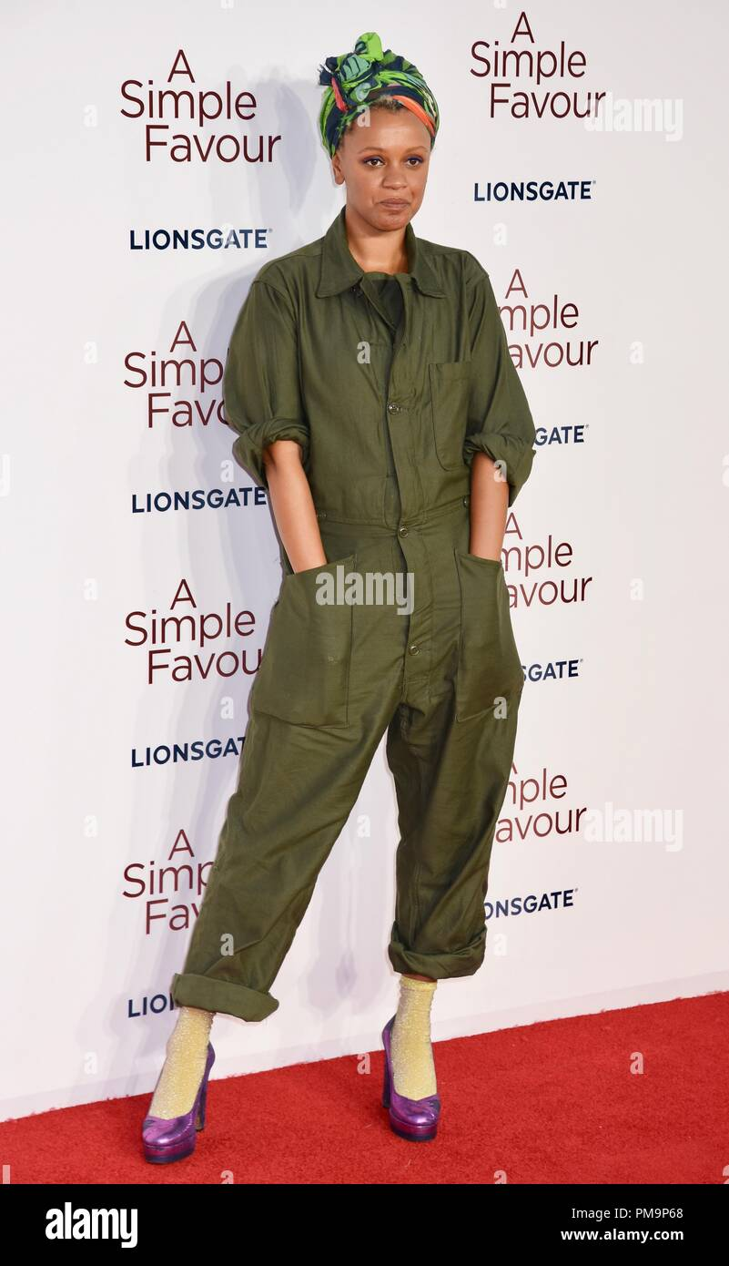 London, UK. 17th Sep 2018. Gemma Cairney,'A Simple Favour' -UK Premiere,BFI Southbank,London.UK Credit: michael melia/Alamy Live News - Stock Image