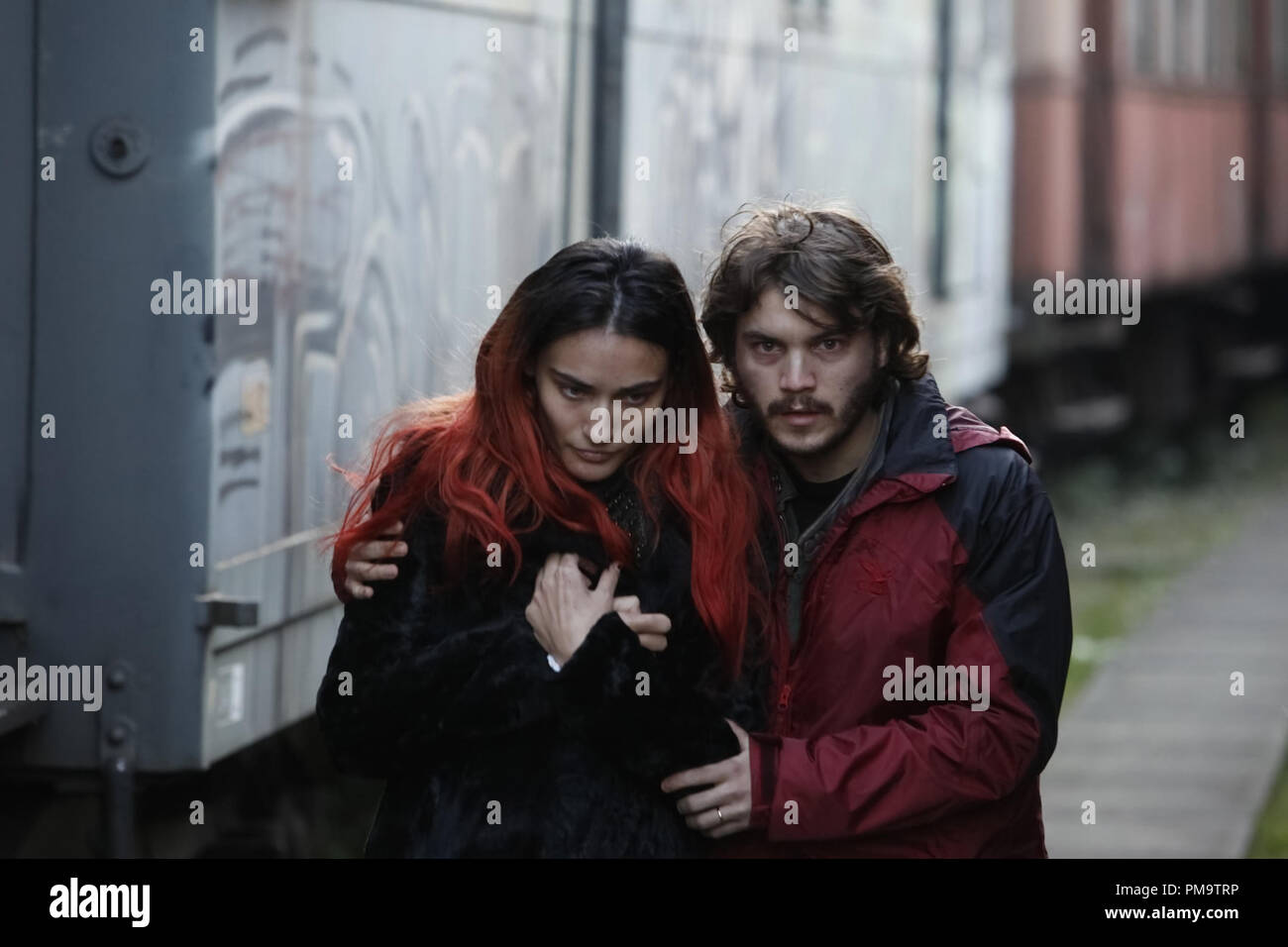 """Saadet Aksoy and Emile Hirsch in Entertainment One's """"Twice Born"""" 2012 Stock Photo"""