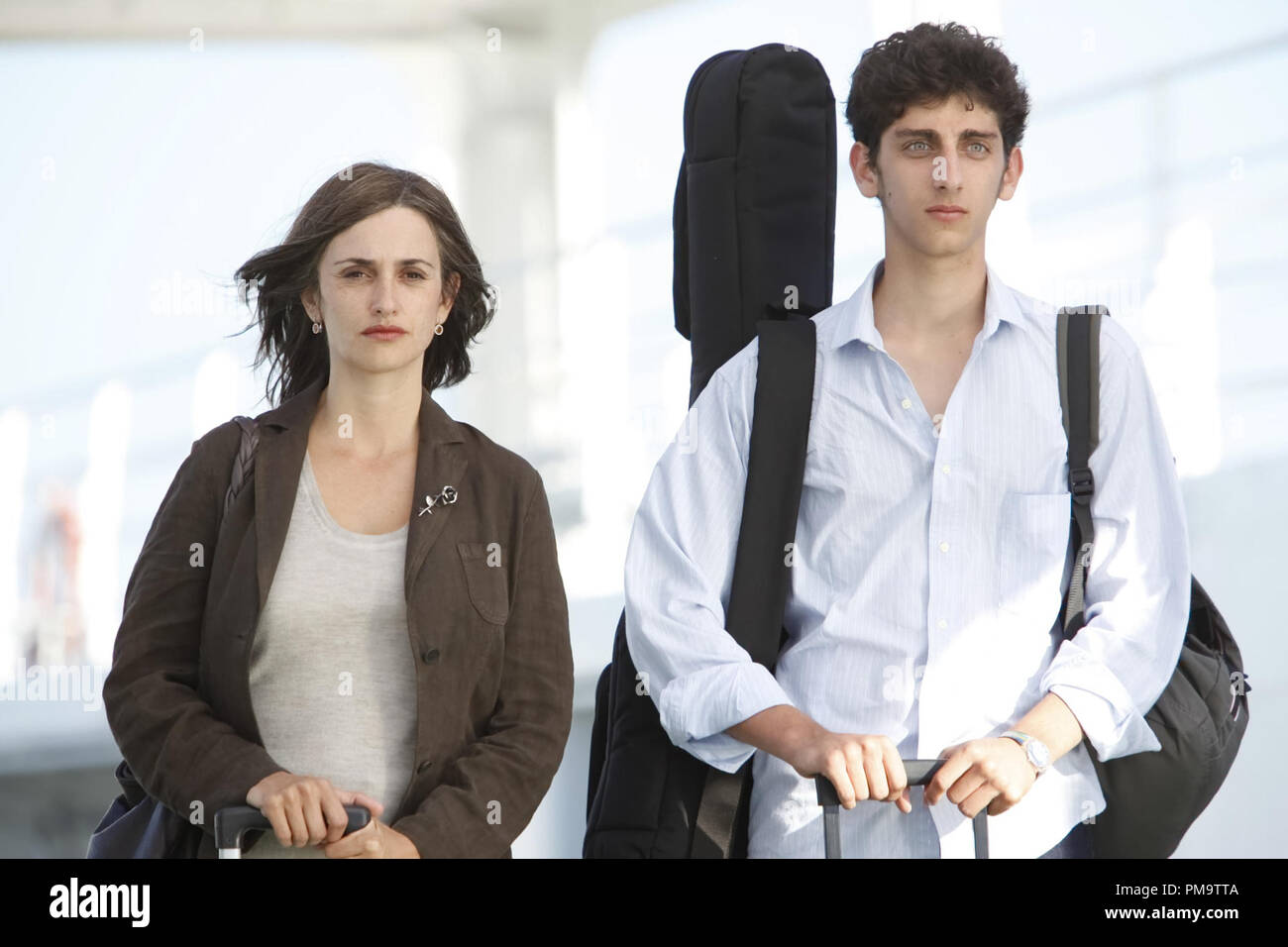 "Penelope Cruz and Pietro Castellitto in Entertainment One's ""Twice Born"" 2012 Stock Photo"