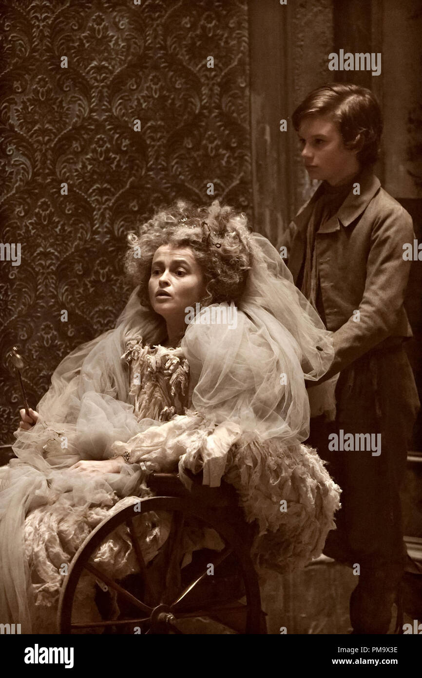 Helena Bonham Carter stars as Miss Havisham and Toby Irvine stars as Young Pip in Outsource Media Group's Great Expectations (2012) Stock Photo