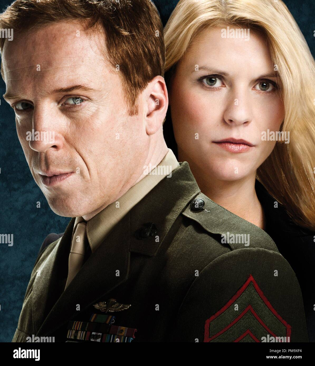 Claire Danes and Damian Lewis 'Homeland' Season 1 (2011) - Stock Image