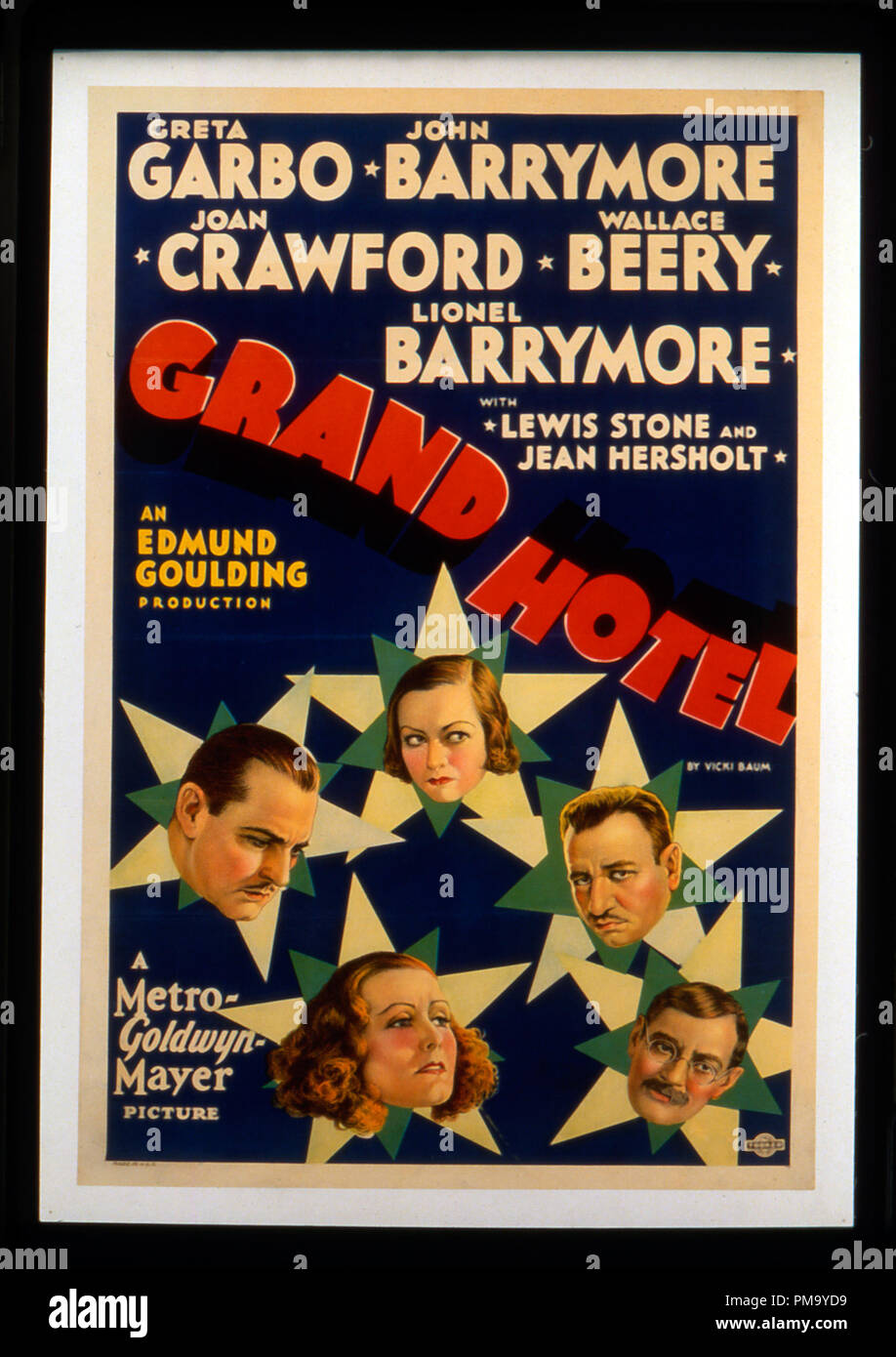 Studio Publicity Still Grand Hotel Poster 1932 Mgm File Reference 31780 085 Stock Photo Alamy