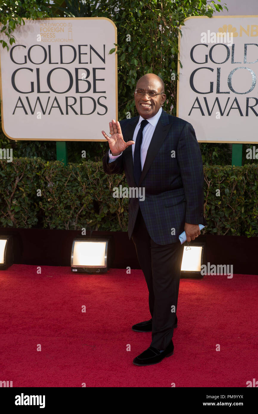 TV personality Al Roker attends the 70th Annual Golden Globe Awards at the Beverly Hilton in Beverly Hills, CA on Sunday, January 13, 2013. - Stock Image