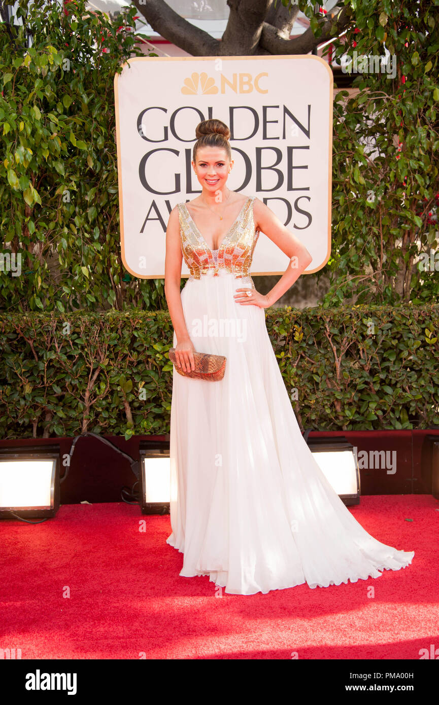 TV personality Carly Steel attends the 70th Annual Golden Globe Award at the Beverly Hilton in Beverly Hills, CA on Sunday, January 13, 2013. - Stock Image