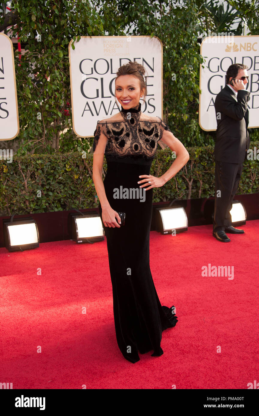 TV personality Giuliana Rancic attends the 70th Annual Golden Globe Awards at the Beverly Hilton in Beverly Hills, CA on Sunday, January 13, 2013. - Stock Image