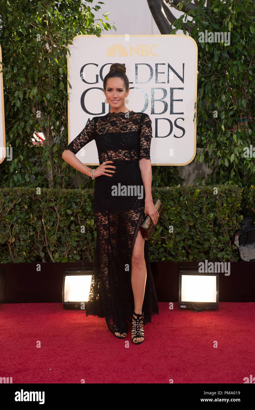 TV personality Louise Roe attends the 70th Annual Golden Globe Awards at the Beverly Hilton in Beverly Hills, CA on Sunday, January 13, 2013. - Stock Image