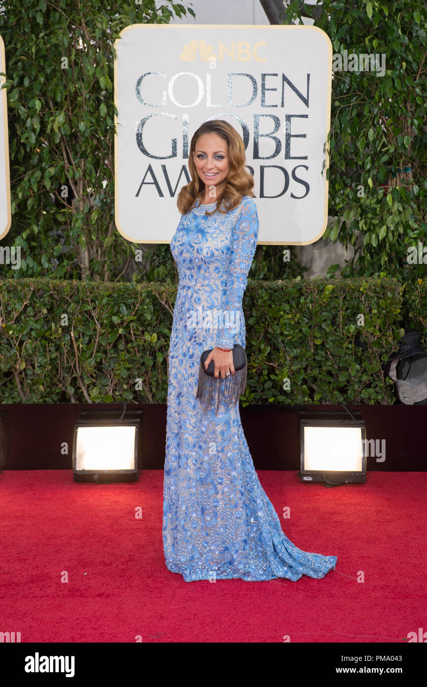 TV Personality Nicole Ritchie attends the 70th Annual Golden Globe Awards at the Beverly Hilton in Beverly Hills, CA on Sunday, January 13, 2013. - Stock Image